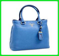 8c8f5f1102 Prada Women's 1BA058 Blue Leather Shoulder Bag - Shoulder bags (*Amazon  Partner-Link)