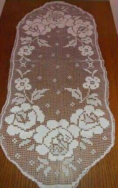 Filet Crochet Charts, Crochet Doily Patterns, Crochet Doilies, Crochet Blouse, Bobbin Lace, Hello Kitty, Home Improvement, Projects To Try, Blanket