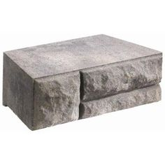 Natural Impressions Ashlar Charcoal/Tan 12 in. x 17 in. Concrete Garden Wall Blocks-182606 - The Home Depot