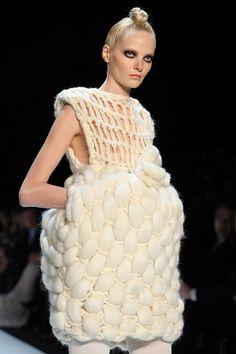 Sam Frenzel - sculptural textile fashion design - garment construction, structure #art