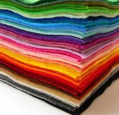 """Feltro in lana piazze 9 """"x 9"""" - alta qualità - artigianato, gioielli, artigianato bambini on Etsy, 1,22€"""