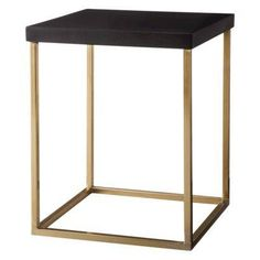 Find standalone tables at Target.com! Threshold square accent table - black and gold