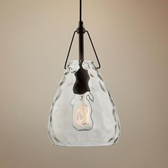 This sublime hammered clear glass mini pendant is a delight of simple, artisanal-modern style. The glass dome, with a recommended Edison tube filament bulb, is presented on a metal frame finished in rich oil rubbed bronze. White Pendant Light, Pendant Light Fixtures, Pendant Lighting, Glass Domes, Mini Pendant, Oil Rubbed Bronze, Glass Pendants, Clear Glass, Gate
