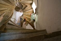 """Amazing """"Staircase of Reconciliation"""" construction completed in 1499!  Graz, Austria"""