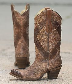 Corral Studded Cowboy Boot - Women's Shoes   Buckle