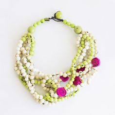 Braided Dream - Pink & Apple green Visit www.calamarie.com
