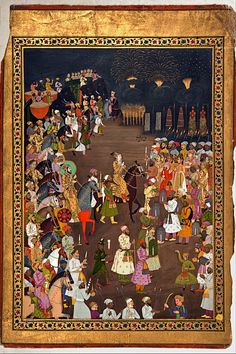 The marriage procession of Dara Shikoh, 1740s. Photo courtesy: National Museum, Delhi.