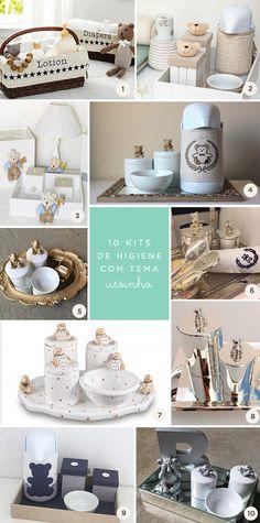 10 opções de kit higiene de ursinho para o quarto do bebê