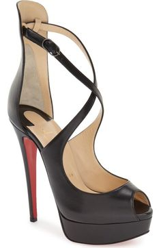 christian louboutin colorblock peep-toe pumps