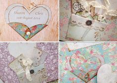 A4 Wedding Guest Book Love heart theme In by youruniquescrapbook