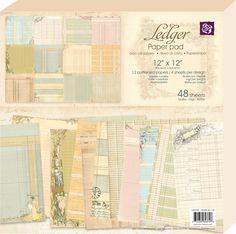 Prima - 12 x 12 Paper Pad - Ledger 1 at Scrapbook.com $14.99