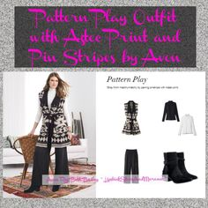 Pattern Play Your Outfit with Trendy Aztec Print and Classic Pin Stripes by Avon | Use pattern play with classic pin stripes, solids, and trendy Aztec print and take your power suit or Sunday outfit to a new level!  Introducing a collection inspired by the true American West... The New Southwest. With the New Southwest Collection, we've taken the tranquil blues of desert skies, the varied crimsons from the canyons of Nevada, and the... ~ Avon Rep Beth Bailey ~ Avon Blog…