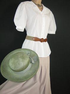 LAURA ASHLEY Vintage White Edwardian Style by VintageLauraAshley