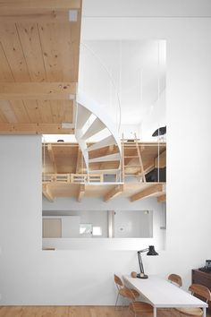 Case house with two staircases by Jun Igarashi Architects