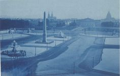 Marquis de ROSTAING  Place de la Concorde, août 1854 Cyanotype, 18.8 x 28.9 cm