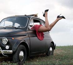 "Fiat 1968 ""Portami via con te"" -Arttwee Art direction and performance- Fiat Cinquecento, Fiat 500c, Fiat Abarth, Classy Cars, Sexy Cars, 3008 Peugeot, Peugeot 205, Retro Cars, Vintage Cars"