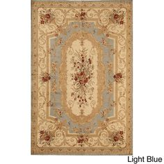 Florence 3152 Cream and Multicolored Traditional Floral Rug (5'3 x 7'10)