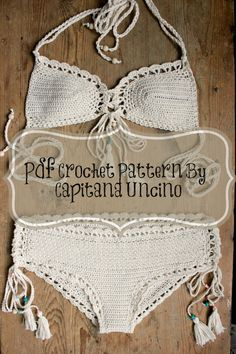 PDF, Crochet PATTERN for Haliai Crochet Bikini Top and Hipster Bottom, Sizes XS-L by CapitanaUncino on Etsy https://www.etsy.com/listing/228262579/pdf-crochet-pattern-for-haliai-crochet