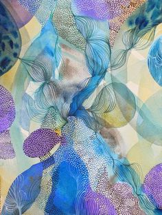 size: Giclee Print: Water Series Whirl by Helen Wells : Entertainment This exceptional art print was made using a sophisticated giclée printing process, which deliver pure, rich color and remarkable detail. Design Textile, Saatchi Gallery, Abstract Watercolor, Water Abstract, Watercolour Painting, Watercolors, Abstract Art, Painting Edges, Stretched Canvas Prints