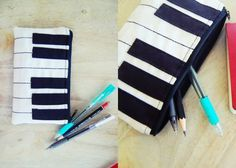 Today, we make a cute (if I do say so myself) piano-inspired pouch. It'll go well with one of these piano bags. Here is the pattern for this DIY piano pouch: The pattern above is for the piano pouc...
