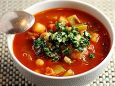 Warm up with a bowl of House-Made Minestrone soup from BLU Italian Grille.