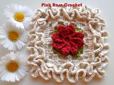 \ PINK ROSE CROCHET /: Granny Square ~ Graphic diagram