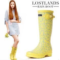 Bottes de pluie en caoutchouc jaune lostlands frais