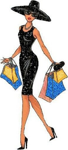 Classy women shopping