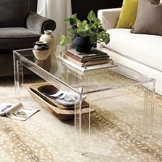 great table to add airy feel and space Felicity Acrylic Coffee Table