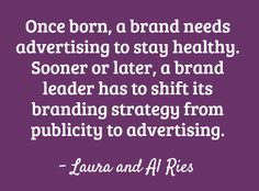 The Law of Advertising for brand strategy