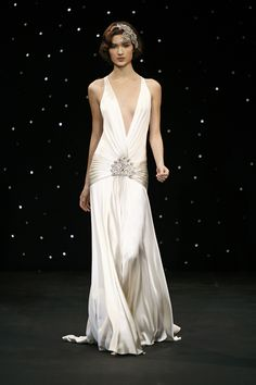 i would prefer it to be a creamier color satin, but i love 1930's drop-waist and shape.  i am a jazz gal after all.