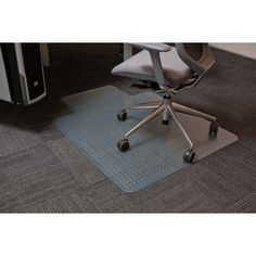 Chair Mats Clear PVC – Black rubber, A range of clear PVC and black rubber chair mats designed to fit under the desk to protect your flooring. Chair Mats, Desk Chair, Office Floor, Protecting Your Home, Oversized Chair, Rectangle Shape, Black Rubber, Floor Mats, Online Furniture