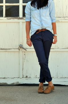oxfords & denim... different pants??