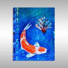koi fish painting by artist laelanie larach Cool Paintings, Paintings For Sale, Art In Miami, Abstract Art, Abstract Paintings, Famous Artists, Art For Sale, Modern Art, Art Gallery