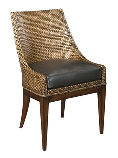 Shop for Woodbridge Furniture Woven Leather Chair, and other Living Room Chairs at Goods Home Furnishings in North Carolina. Leather Dining Chairs, Dining Arm Chair, Dining Room Chairs, Dining Room Furniture, Side Chairs, Office Chairs, House Furniture, Lounge Chairs, Dining Tables