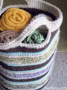 Crochet bag - like the handle