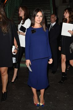 Miroslava Duma [Мирослава Дума] at the Givenchy SS15 fashion show. #PFW l September, 2014