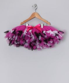 pink funky zebra tutu by tulles of love at zulily.com