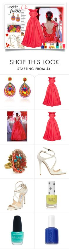 """ Sem Título "" by dehti ❤ liked on Polyvore featuring Ranjana Khan, Naeem Khan, Ashlyn'd, Roberto Cavalli, Jimmy Choo, Topshop, Wet Seal, Essie and Nails Inc."
