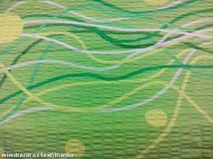Metráž krep š. 142 cm zelenožlutá barva
