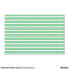 Outlined Stripes Green Tissue Paper