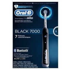 Oral-B BLACK 7000 SmartSeries Power Rechargeable Electric Toothbrush with Blueto #BraunORALB