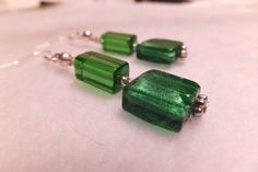 Check out this item in my Etsy shop https://www.etsy.com/listing/185792430/deepest-glade-green-earrings-shimmering