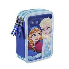 Disney Frozen Federtasche 43 tlg. 3 Ebenen Federmappe gefüllt Anna Elsa