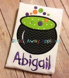 Cauldron Applique - 3 Sizes! | What's New | Machine Embroidery Designs | SWAKembroidery.com Stitch Away Applique