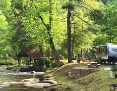 River Falls At The Gorge Rv Resort And Campground - Rv Park, River Campsites, Rv And Cabin Rental (Camping Hacks Packing) Rv Camping Checklist, Rv Camping Tips, Camping Places, Camping Spots, Outdoor Camping, Camping Trailers, Camping Cabins, Tent Camping, Camping Jokes