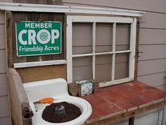 garden bench-sink | my Mother's Day / birthday gift | Molly Welsh | Flickr