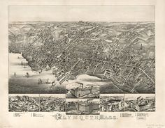 Plymouth, Massachusetts in 1882.- The Land Of Maps