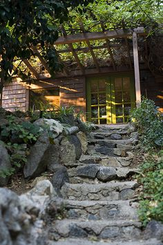 Laurel Canyon stone stairway to cottage by digging90650, via Flickr