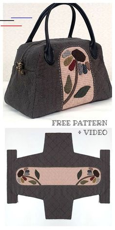 DIY One Piece Fabric Quilt Bag Free Sewing Pattern + Video Sac de couette en tis .DIY One-Piece Fabric Quilt Bag Free Sewing Pattern + Video Bricolage Patron de Couture-Gift + Video, Sac DIY En Bag Patterns To Sew, Sewing Patterns Free, Free Sewing, Pattern Sewing, Free Pattern, Sewing Diy, Quilted Bags Patterns, Sewing Hacks, Pattern Drafting Tutorials